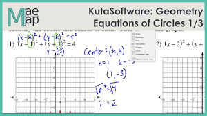 kuta geometry equations of circles part 1