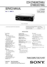 solve sony cdx gt150 problem pdf