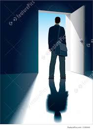 Open front door illustration Centralazdining Success Concept Magical Door Way To Freedom Choice Concept Businessman Is Featurepicscom Open Door Illustration