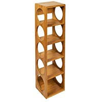 single row wine rack.  Wine Woodluv Bamboo Stackable Wine Rack Stand Holder To Single Row E