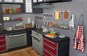 Sims Kitchen Kitchen Decor Set For Sims 4 Simscustomcontent Pinterest