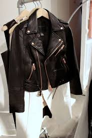 this leather jacket my eye because of the rose gold hardware so unique i ve never seen anything like that and it was gorgeous
