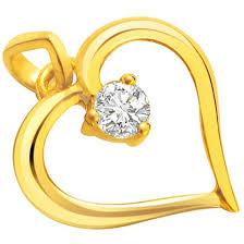 pure golden love real diamond heart pendants pure golden love real diamond pendants surat diamond jewelry