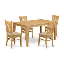 East West Furniture Capri 5 Piece Kitchen Table Set Dining Table