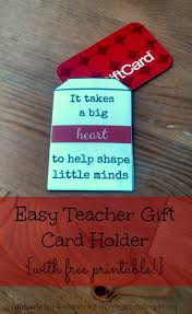 easy teacher gift card holder printable enchanted easy teacher gift card holder printable
