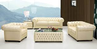 Living Room Sofas And Loveseats 258 Living Room Set Ivory Leather Sofa Loveseat And Chair D2d