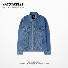 best selling <b>2019 new</b> denim jacket male spring and autumn <b>loose</b> ...