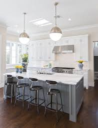 Black and White Kitchen Island. Love the drawers under the upper cabinets  and the corner