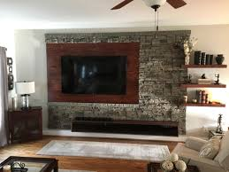 wes interior stone accent wall project