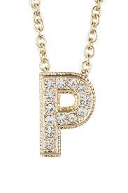 image of nadri pave p initial pendant necklace
