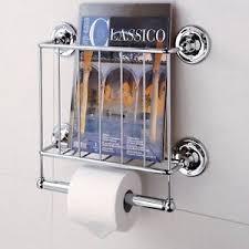Chrome Toilet Paper Holder Magazine Rack Organize it All Estate Toilet Paper Holder with Magazine Rack 7