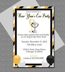 Word Template For Invitation Ring In The New Year With This Cute Microsoft Word