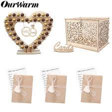 <b>OurWarm Rustic Wedding Wood</b> Candy Bar Paper Invitation Card ...
