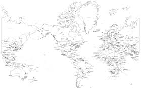 World Map Black And White Printable With Countries World Map Black And White Printable With Countries Fpwm2 Printable