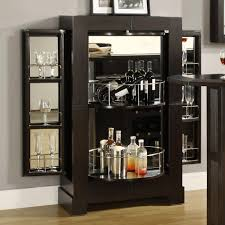 at home bar furniture. Modern Black Mirrored Home Bar Cabinet With Wine Glass Racks And Storage In Furniture Design Ideas At