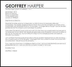 Sample Resignation Letter From Board Member Ceo Resignation Letter Example Letter Samples Templates