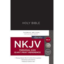 Nkjv Reference Bible Personal Size Giant Print Hardcover Black