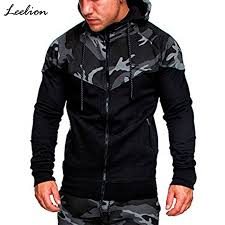 <b>IceLion 2019 Spring Camouflage</b> Patchwork Hoodies Men Zipper ...