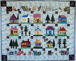 1029 best HOUSE QUILTS 2 images on Pinterest   Quilt block ... & Village Houses: Joybells Ring in Heaven's Street. Quilting TutorialsQuilting  PatternsPatchwork ... Adamdwight.com