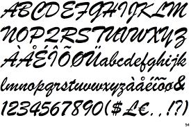 forte font identifont brush script