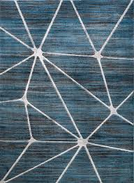 home and furniture elegant blue geometric rug on alvin modern well woven blue geometric rug