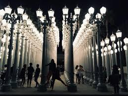 los angeles california lacma urban light hd 2016