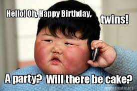 Happy Birthday Twins Meme