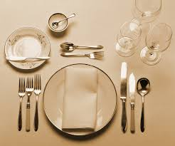 fine dining plate setting. finedining fine dining plate setting