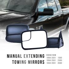 1 Pair Left & Right Trailer Pickup Truck Towing Mirrors Folding Tow ...