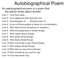 autobiography template best biography images  example of a student autobiographical poem rules second autobiography template