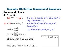 example 1b solving exponential equations