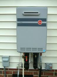 install tankless water heater install tankless gas water heater outside