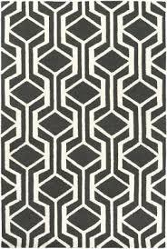 black and white geometric rug uk area at studio l