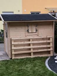 Tolles Gartenhaus Mit Ecküberstand 28 Mm Blockbohlenstärke