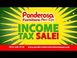 Zero Down Our In e Tax Sale Furniture Ponderosa Furniture