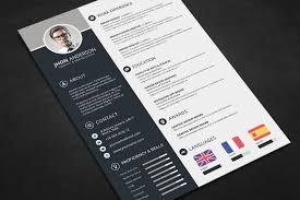 Professional Resume Cv Template Free Psd Files Graphic Web Unique