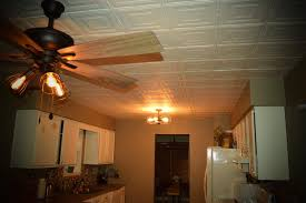 faux tin glue up ceiling tile in white