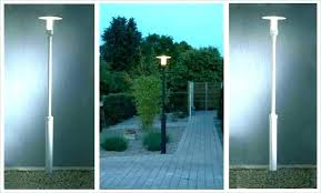 contemporary outdoor lamp post lighting solar lights driveway powered garden hts ht