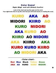Japanese Color Chart