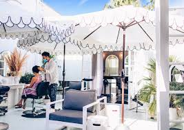 outdoor hair salon in los angeles