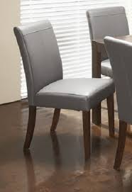 roberto grey leather dining chair