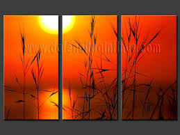 modern oil paintings on canvas sunset glow painting set08167