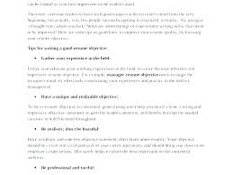 Objective For Resume Internship Writing A Objective For A Resume ...
