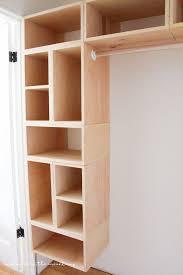 adjule wood closet shelving diy custom closet organizer the brilliant box system