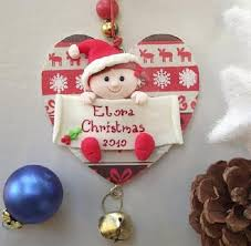 ... Baby Nursery Large-size Elora Baby's First Christmas Ornaments  Clearance Personalized Gifts Lenox Keepsake Picture ...