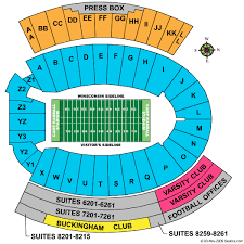 Wisconsin Badger Football Stadium Seating Chart Camp Randall Stadium Seating Elcho Table