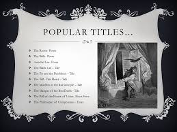 north american literature i ppt video online  the raven poem the bells poem annabel lee poem