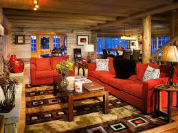 Log Cabin Living Room Concept New Decoration
