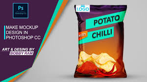 Design Your Own Potato Chip Bag How To Make Realistic Chips Bag Mock Up In Photoshop Psd Link Below
