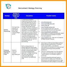 Recruiting Plan Template Volunteer Recruitment Recruitment Strategy Template